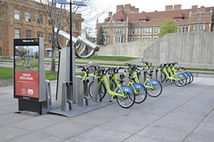 empirestatefuture posted a photo:	Bike sharing operation in Minneapolis--this one's on the campus of the U. of Minnesota