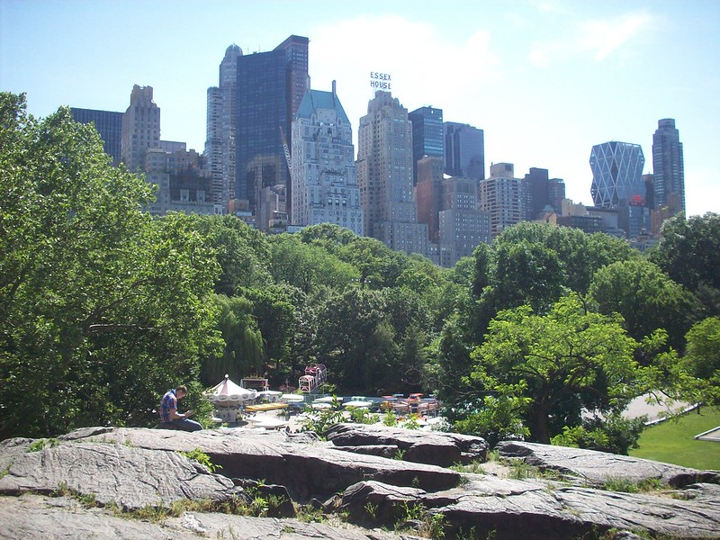 Central Park: The rocks by the Wollman Rink