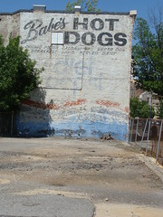 Wall Mual---Babe's Hot Dogs Ghost Sign