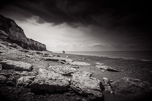Two Walkers - Hunstanton Beach