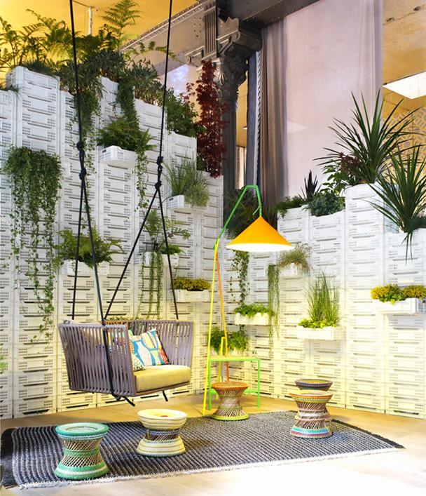 Jard n vertical for Casa jardin restaurante