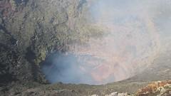 Smoke at Villarica's Crater