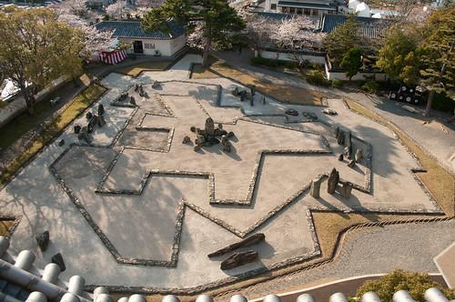 Jardín seco del castillo de Kishiwada