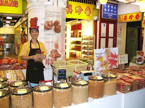 Shopkeeper in Singapore Chinatown
