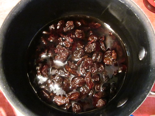 raisins soaked in mezcal
