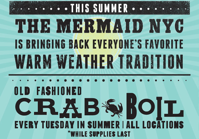 mermaid inn crab boil every tuesday in summer