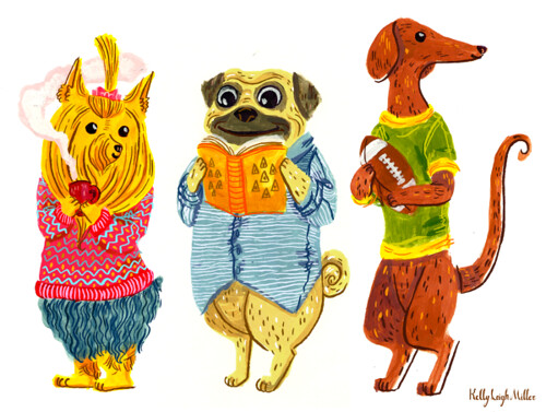 Dogs in Cloths