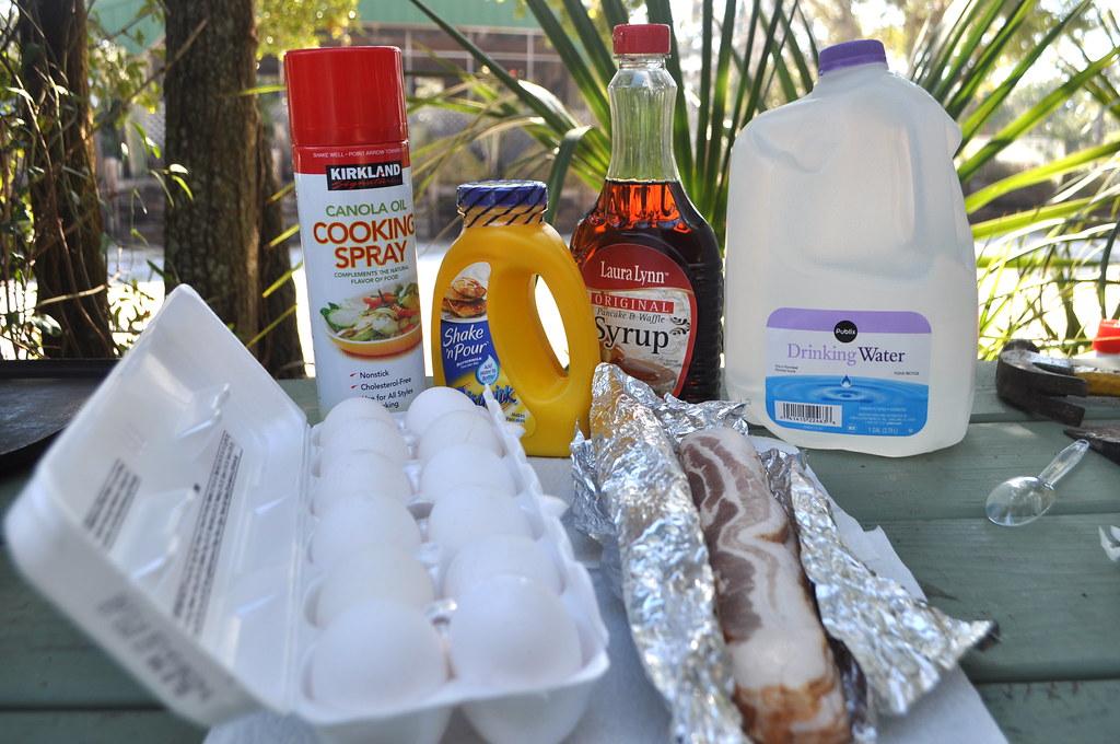 Camping breakfast materials
