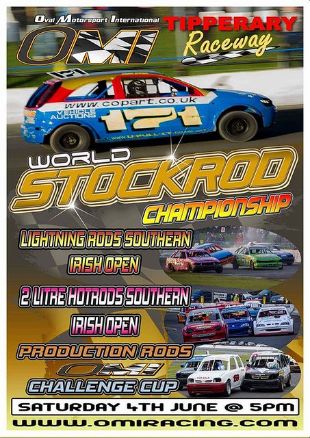 This Saturday in the Tipparary Raceway in Ireland. Looks interesting