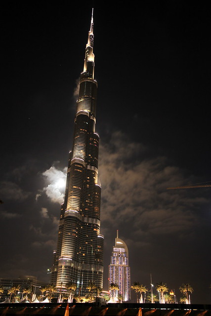Dubai Burj Khalifa at night