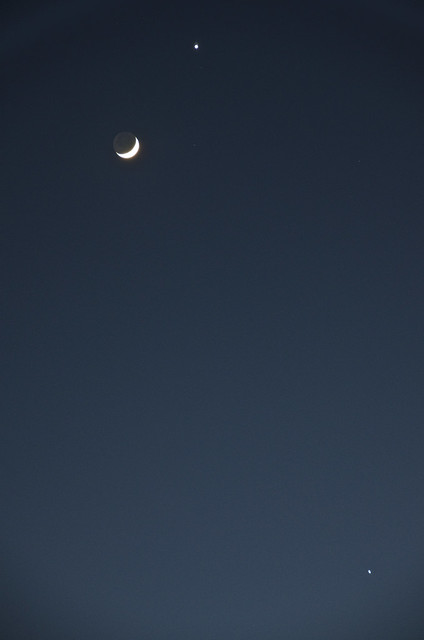 Moon Venus Jupiter conjunction March 26 2012