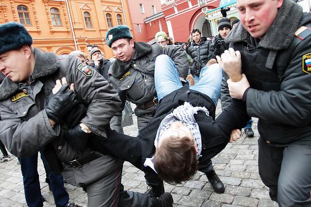Акция Белая площадь на Красной площади в Москве 1 апреля 2012