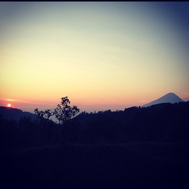 Sunrise en route to Acatenango volcano, Guatemala