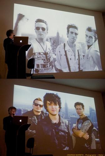Bob Gruen em Palestra durante a exposição Let's Rock by barretorodrigo