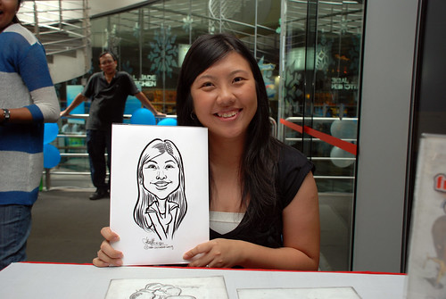 Caricature live sketching for Singapore Suntec City Annual Party - 20
