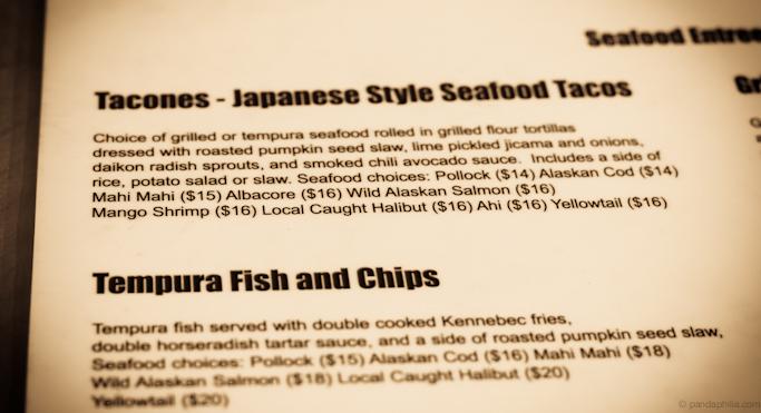 tacones menu