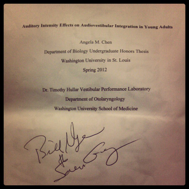 bill nye thesis autograph