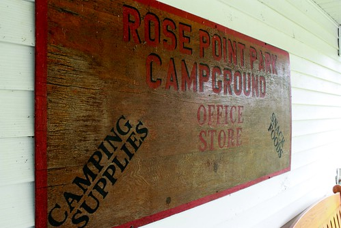 Rose Point Park Camp Office Sign