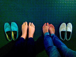 lali goes shoeless for One Day Without Shoes