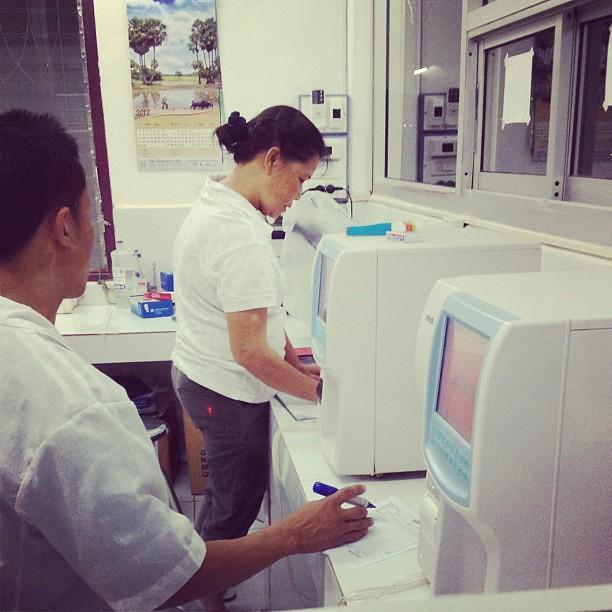 Blood test equipment at Hospital 103