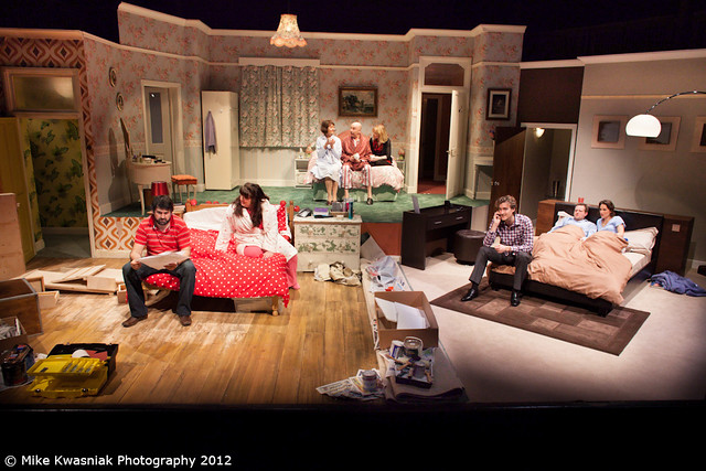 Bedroom farce bedroom farce at the new wolsey theatre for Farcical writings