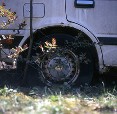 Derelict Car Rear Passenger Side