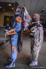 Emerald City Comic Con Day 1 Tusken getting the best of a Mandalorian Merc