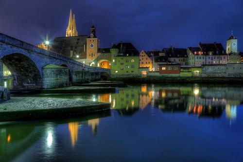 Stone Bridge Regensburg - Blue Hour