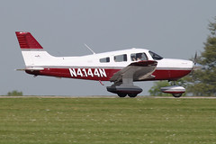 N4144N - 2000 build Piper PA-28-181 Cherokee Archer III, arriving at AeroExpo 2012