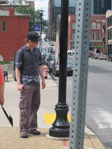 Nashville: Matt checks out a walking map