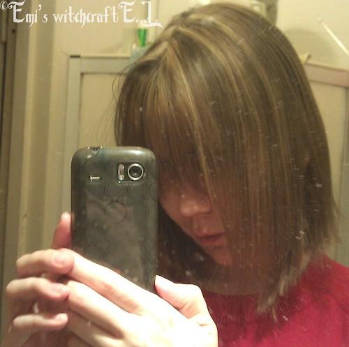My hair...