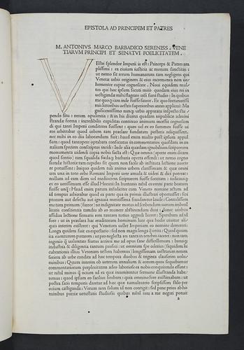 Ink initial in Sabellicus, Marcus Antonius: Decades rerum Venetarum
