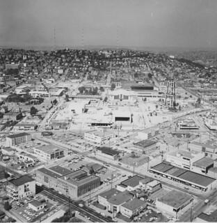 World's Fair grounds under construction, 1961