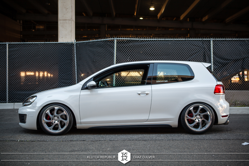 white mk6 vw gti low and fitted at eurofest 2012