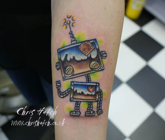 Cute Robots Tattoos Cute Robot Tattoo