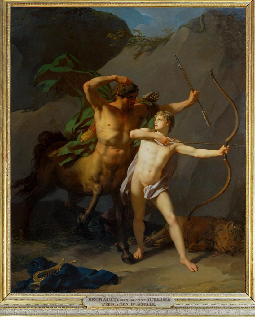 Jean-Baptiste Regnault, <i>L'Éducation d'Achille par le centaure Chiron</i>