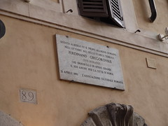 Photo of Ferdinand Gregorovius marble plaque