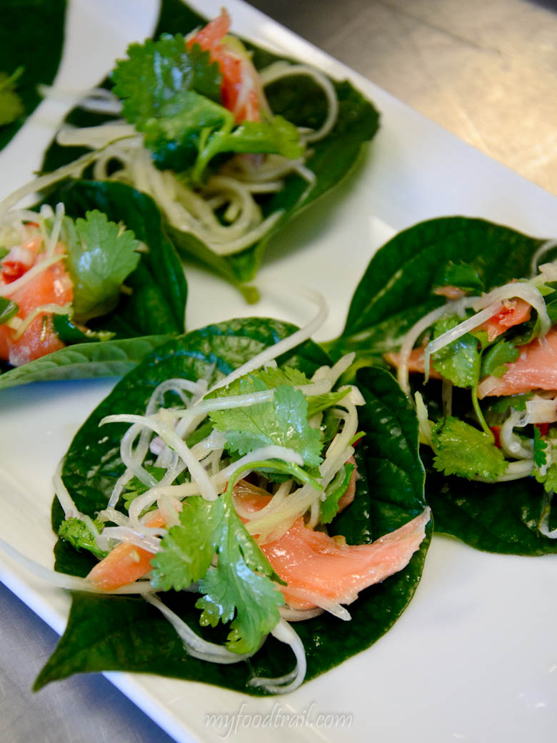 MFWF 2012 Event - Smoked ocean trout with betel leaves