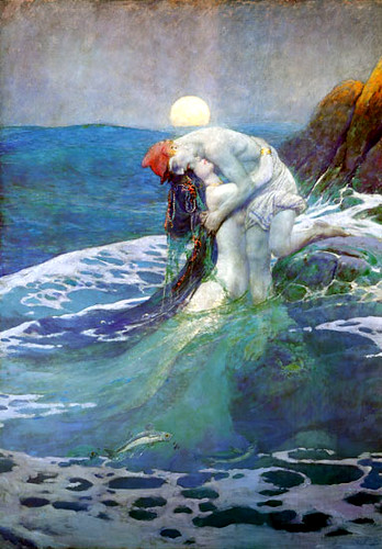 The relationship broke up when he realized that mermaids procreate by laying eggs in the sand and having the male fertilize them.