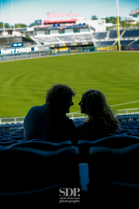 Kauffman Stadium engagement photos