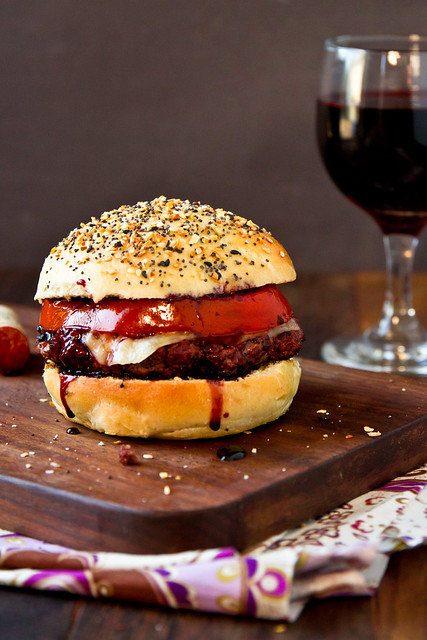 Cabernet Burgers on Everything Buns