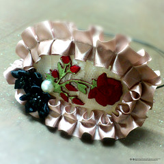 art, flower, brooch, petal,