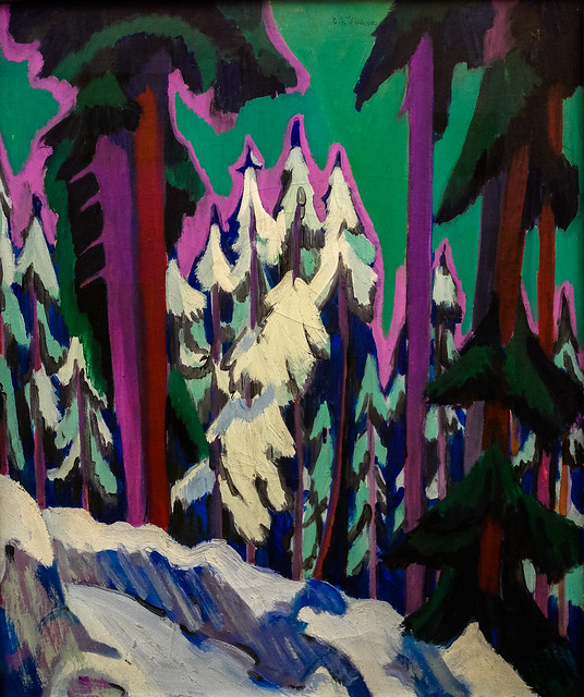 Ernst Ludwig Kirchner - Forest in Winter - Davos-Frauenkirch, 1926 at Museum Ludwig Cologne Germany