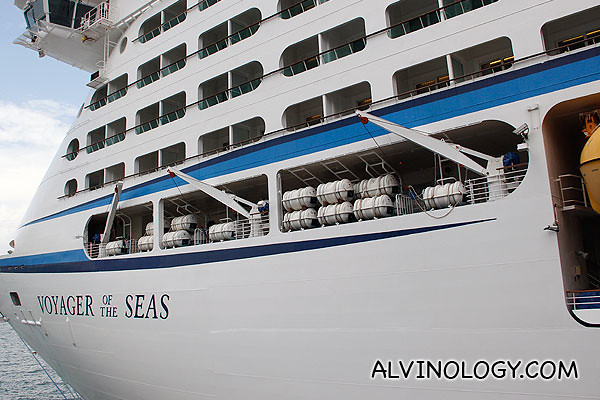 Boarding Voyager of the Sea for a ship tour