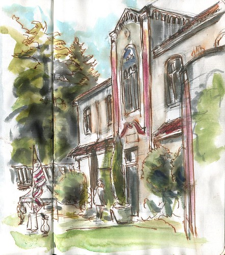 Memorial Day SketchCrawl - Wilhelm Memorial Funeral Home
