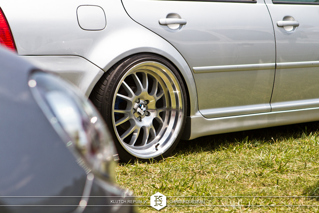 silver mk4 vw jetta static low on klutch sl14 wheels at southern worthersee 2012