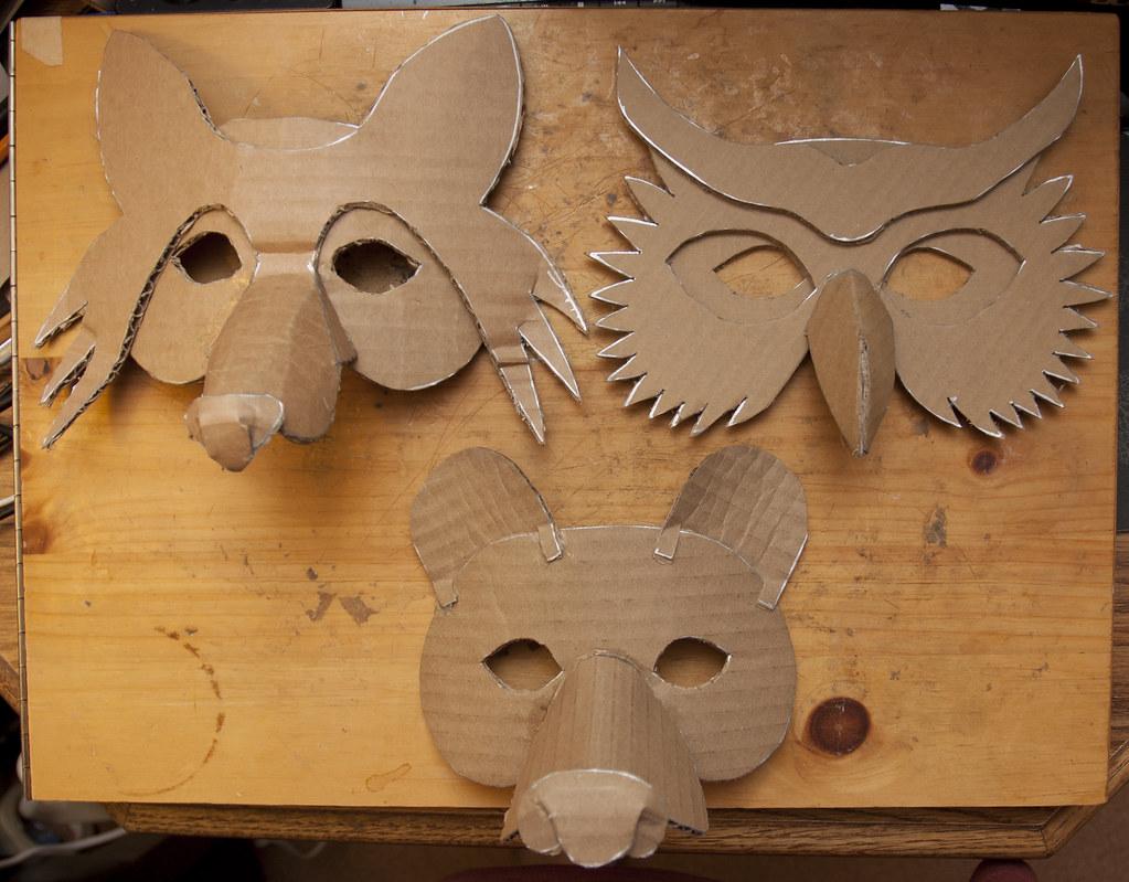 Simple Masks (Fox, Owl & Bear