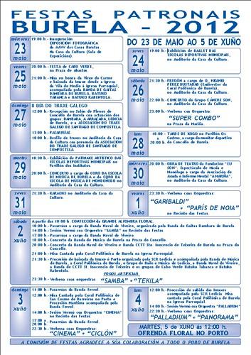 Burela 2012 - Festas patronais - programa