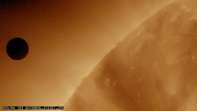 NASA's SDO Satellite Captures Venus Transit Approach
