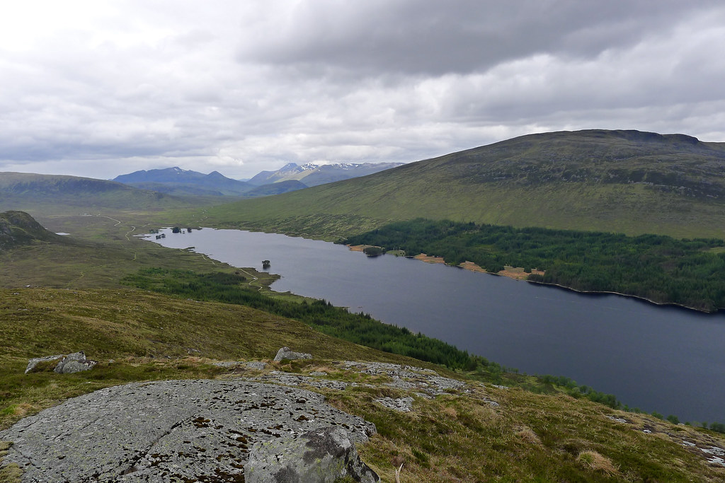 The Mamores and Nevis beyond Loch Ossian